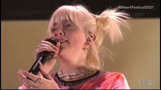 """Billie Eilish performs """"Happier Than Ever"""" at the 2021 iHeartRadio Music Festival"""