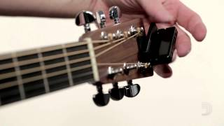 Watch the Trade Secrets Video, D'Addario Clip-On Headstock Tuner Demo