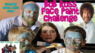 Bob Ross Face Painting Challenge / That YouTub3 Family