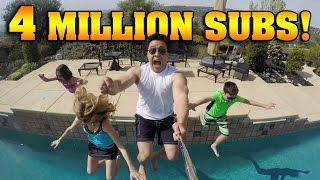 4 MILLION SUBSCRIBERS!!! Polar Plunge & Giant Banana Split!