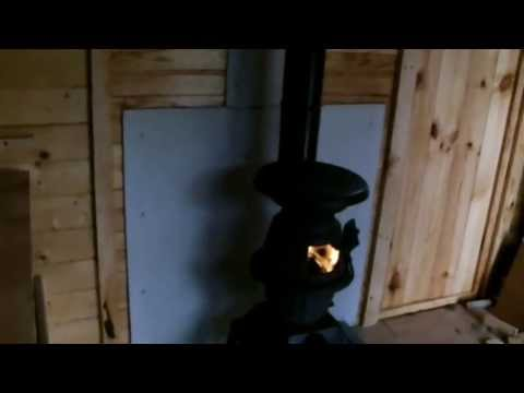 Install A Cabin Shed Wood Stove Our Garden Chalet