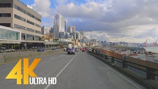 4K Seattle Streets - Car Driving Relax Video - Washington State, USA