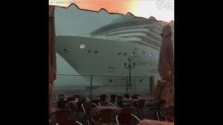 Du thuyền kịp thời tránh đụng nhà hàng ở Ý (VOA)