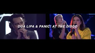 IDGAF - Dua Lipa & Panic! At The Disco (split audio) *USE HEADPHONES*