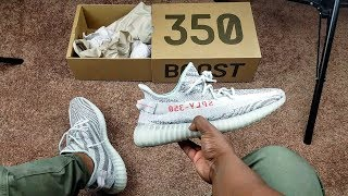 "I'M NOT SELLING THESE!!! YEEZY V2 ""BLUE TINT"" ON FEET!!!"