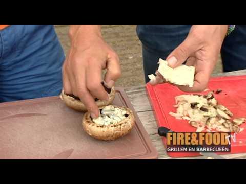 Fire&Food TV: Gevulde champignon van de barbecue
