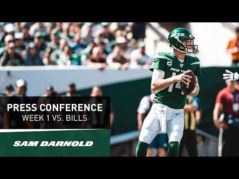 Sam Darnold Postgame Press Conference | New York Jets vs. Buffalo Bills Week 1 | NFL