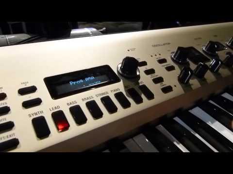 Keyboard Magazine investigates the new King Korg virtual analog synth at NAMM 2013
