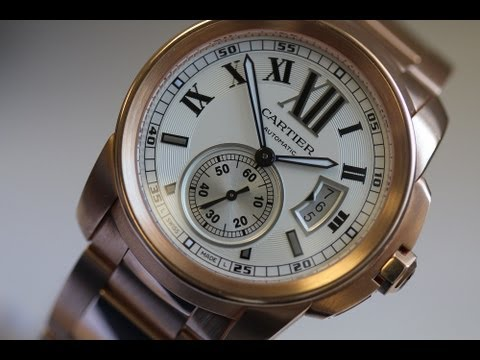 Cartier Calibre Mens Solid Rose Gold W7100040 For Sale By Ben Dannie - Jewelry Designer Los Angeles