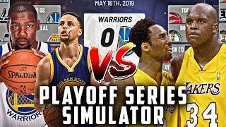 00-01 LA Lakers vs 18-19 Golden State Warriors | KOBE + SHAQ VS CURRY + DURANT | NBA SIMULATION