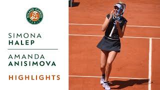 Simona Halep vs Amanda Anisimova - Quarterfinals Highlights   Roland-Garros 2019