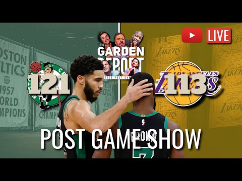 LIVE Celtics vs Lakers Post Game Show | Powered by @lockerroomapp