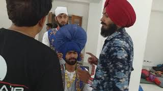 How to tie BHANGRA style TURBAN BALJINDER SINGH INTERNATIONAL film