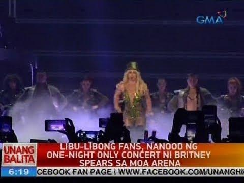UB: Libu-libong fans, nanood ng one-night only concert ni Britney Spears sa MOA arena