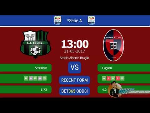 US Sassuolo vs Cagliari Calcio