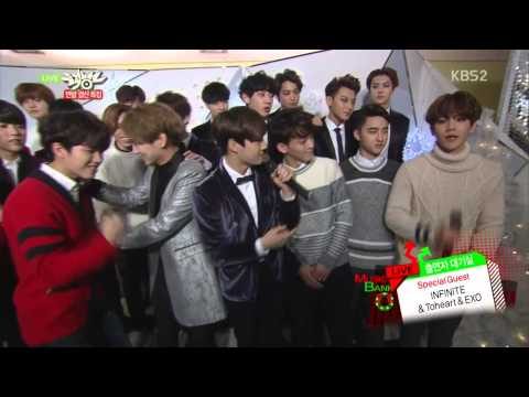 141219 [Music Bank] - EXO & INFINITE & ToHeart Backstage Interview