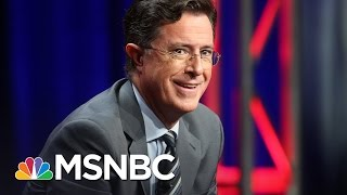 Hypocrisy Of Conservatives Upset About Stephen Colbert's President Trump Insults | AM Joy | MSNBC