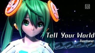 [1080P Full風] Tell Your World -Hatsune Miku 初音ミク Project DIVA Arcade English lyrics Romaji subtitles