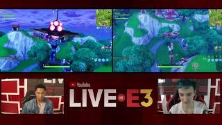Ninja and Josh Hart of the LA Lakers Play Fortnite at the YouTube Live at E3 Studio Part 1