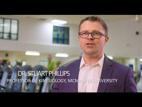 Video: For adults approaching or over the age of 50, Dr. Stuart Phillips recommends protein consumption at every meal. In combination with regular exercise, this will prevent the loss of muscle tissue as we age and help adults continue an active and healthy lifestyle.