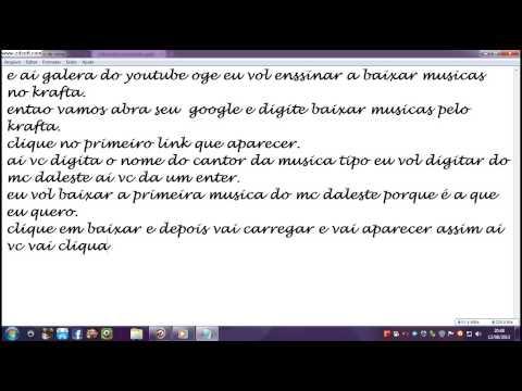 Baixar COMO BAIXAR MUSICAS PELO KRAFTA.