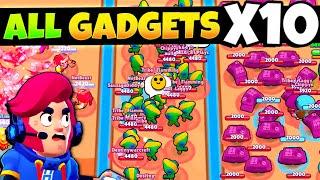 EVERY Brawlers Gadget X10 🤯 (satisfying)