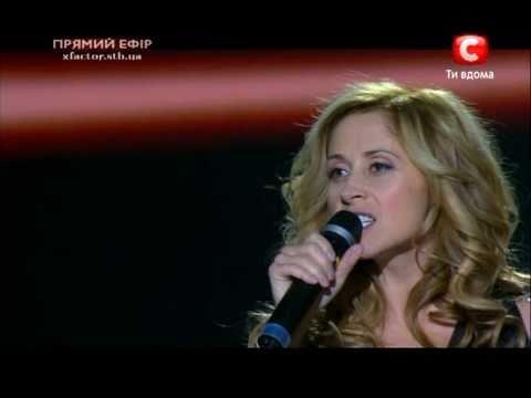 Lara Fabian live on the X-factor show Ukraine - Demain n'existe pas