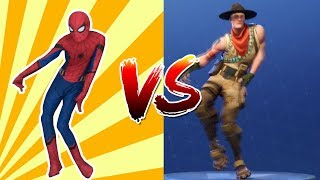 FORTNITE DANCE CHALLENGE!! - (SPIDERMAN HOMECOMING) Part.1
