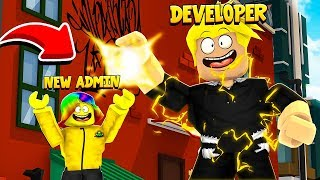 The DEVELOPER gave me the ADMIN MENU and you won't BELIEVE what it does.. (Roblox)