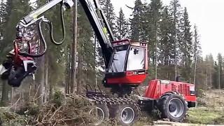 Những cỗ máy móc và xe khủng nhất thế giới san phẳng cả cánh rừng ✔