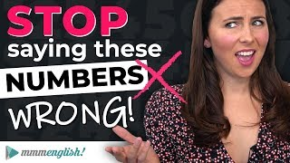 STOP saying numbers wrong! ❌ English Pronunciation Lesson
