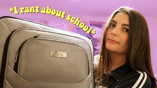 I rant about school and unpack for 10 minutes straight
