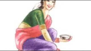 How lady's start their first life with rangoli its a gif