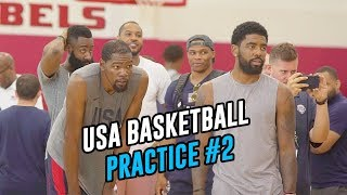 Russell Westbrook Mocks JAMES HARDEN! Kevin Durant Goes 1-1 vs TEAM USA! Full Scrimmage HIGHLIGHTS!