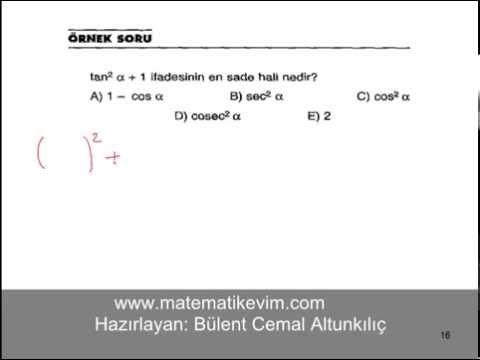 Trigonometrik Özdeşliklerle İlgili Soru Çözümü