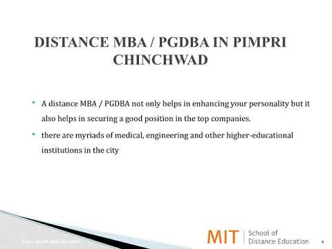 Distance Management Courses | Correspondence MBA | Distance MBA in Pimpri Chinchwad
