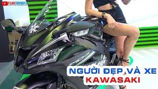 Người đẹp và Xe KAWASAKI Ninja ZX10RR, Z900 ABS 2017, VERSYS-X 300 ABS