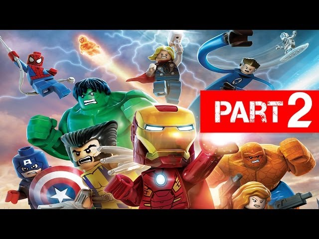 LEGO Marvel Super Heroes Gameplay Walkthrough Part 2 - Times Square Off Let's Play Xbox PS3 PC