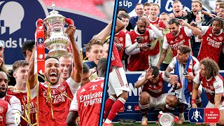Trophy Lift & Full-Time Celebrations 🏆 Aubameyang DROPS the Trophy 🤣  Arsenal 2-1 Chelsea