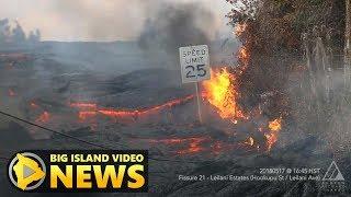 Hawaii Volcano Eruption Update - Friday Morning (May 18, 2018)
