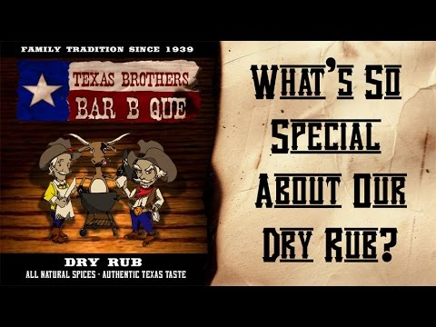 Texas Brothers BBQ Dry Rub - All Natural Spices- Gluten Free