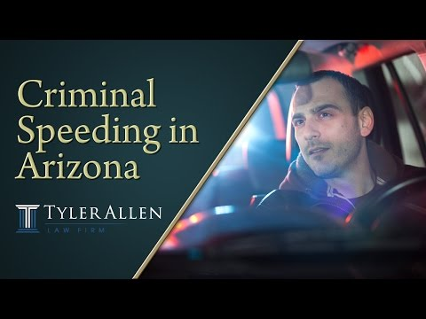 Criminal Speeding in Arizona