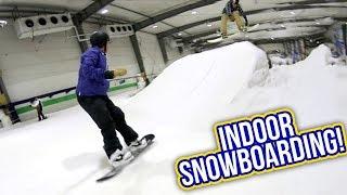 INDOOR SNOWBOARDING!