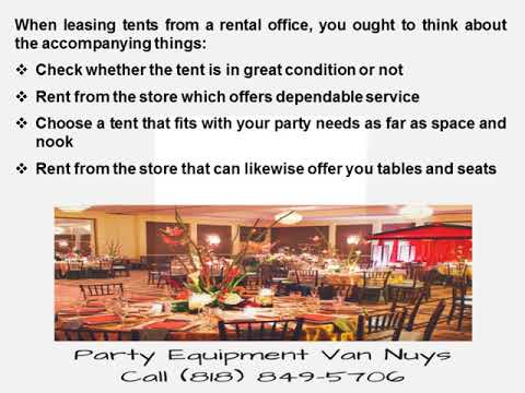 Hire Party Rentals For A Successful Event