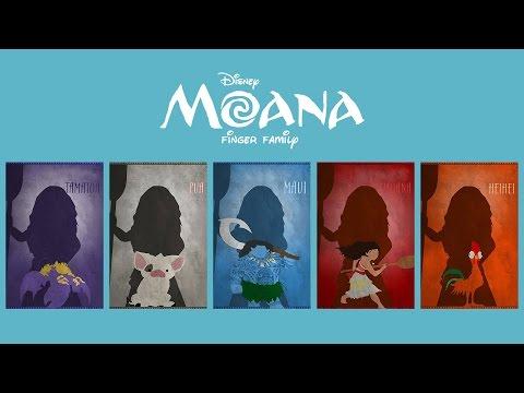 MOANA Finger Family - Nursery Rhyme with Lyrics