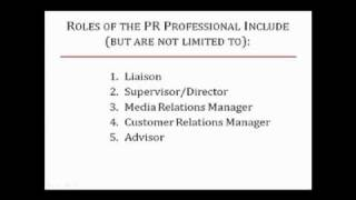 The 5 Roles of the Public Relations Professional