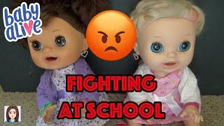 Baby Alives Twins Paige & Parker Fight Part 2! Sisters Fight At School