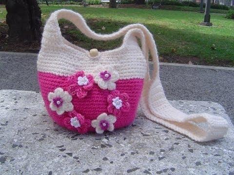 Como hacer bolso tejido a crochet paso a paso parte 1 2 - Como hacer bolsos tejidos ...