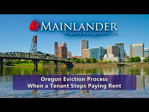 Oregon Eviction Process: When a Tenant Stops Paying Rent