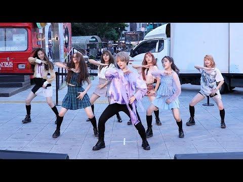 180803 공원소녀(GWSN) - 에너제틱 (Energetic) 워너원 Wanna One COVER [신촌버스킹] 4K 직캠 by 비몽
